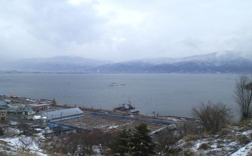 冬の諏訪湖(25.12.27)