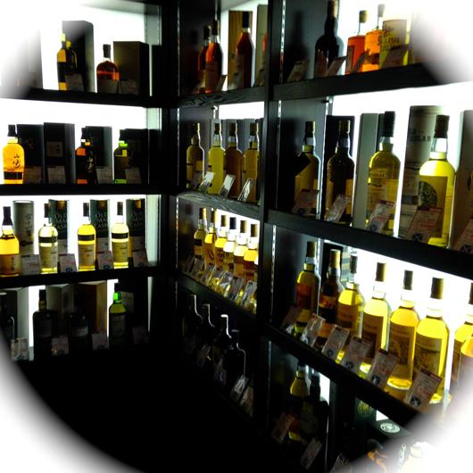 ウイスキー陳列