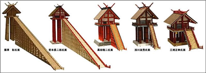 ブログ出雲大社5人模型20141024