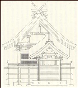 ブログ出雲大社復元絵図ー220141024