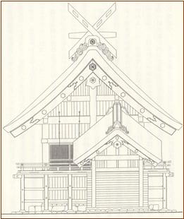 ブログ出雲大社復元絵図ー320141024