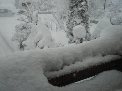 どっさりの雪