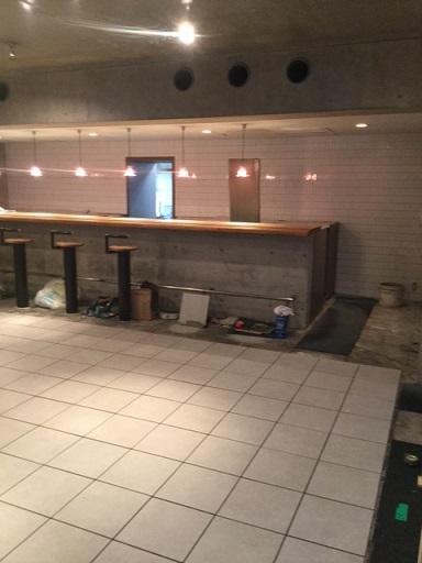 喫茶店改造計画床テーブル