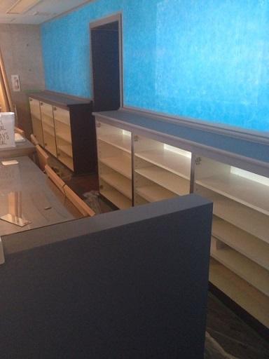 喫茶店改造計画の収納家具
