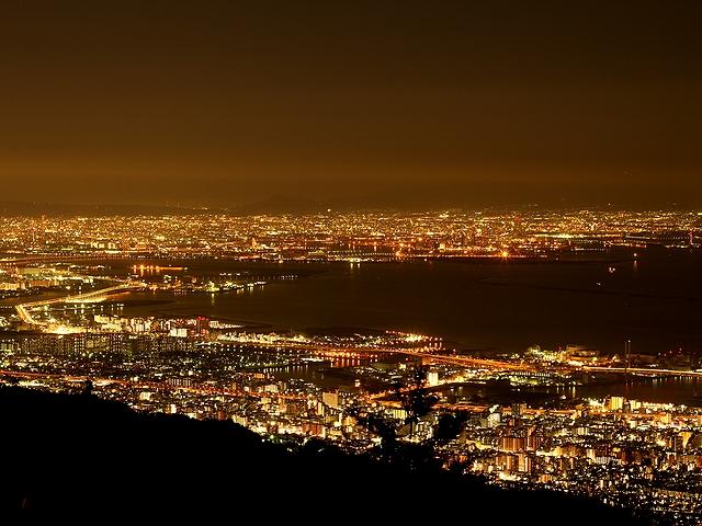 六甲山からの夜景 大阪方面