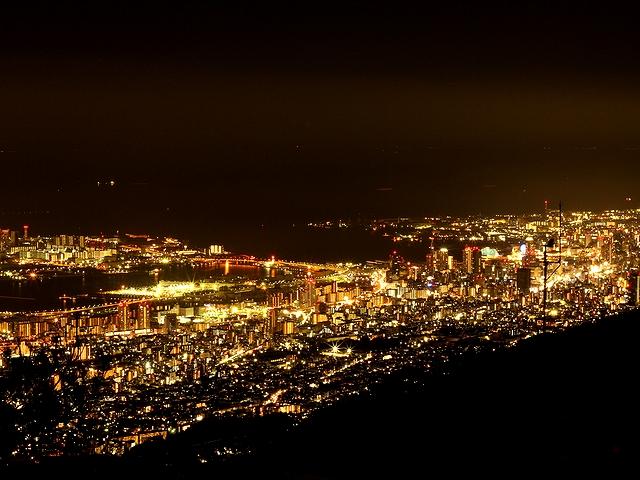 六甲山からの夜景 三宮方面