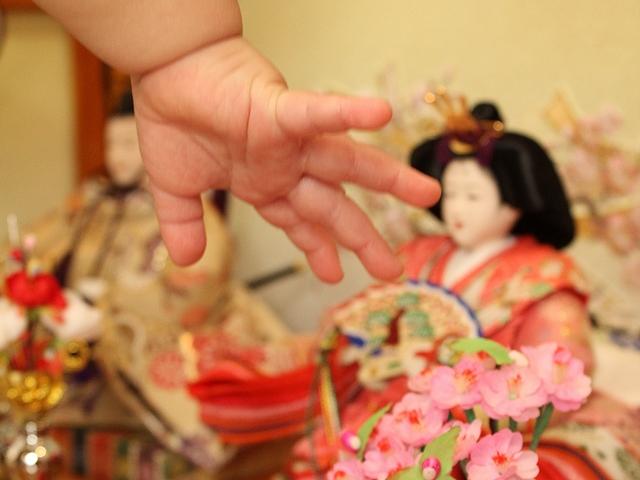 初節句 ひな人形と手