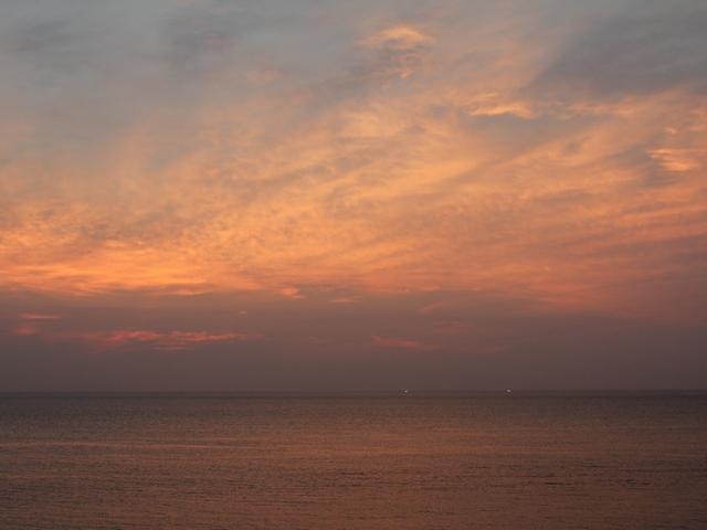 白山市八田の海の夕焼け