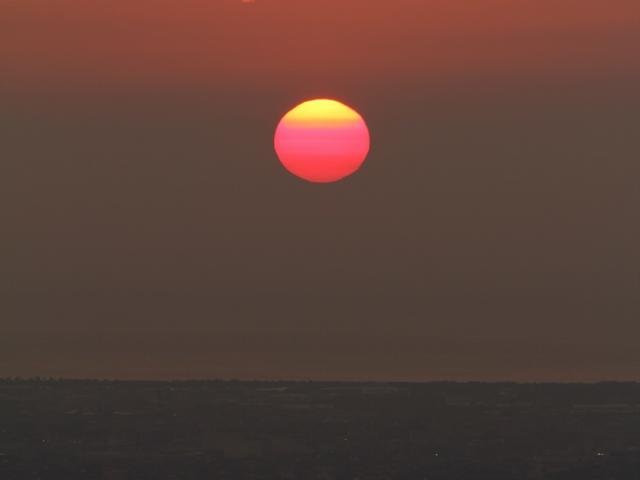 キゴ山から見た夕日 20120805