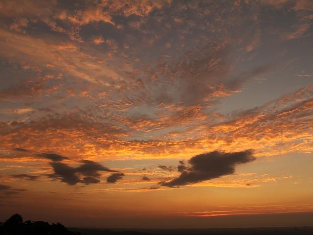 キゴ山から見た夕焼け 20120805