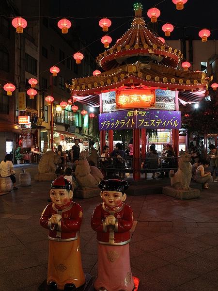 神戸 南京町中華街の夜