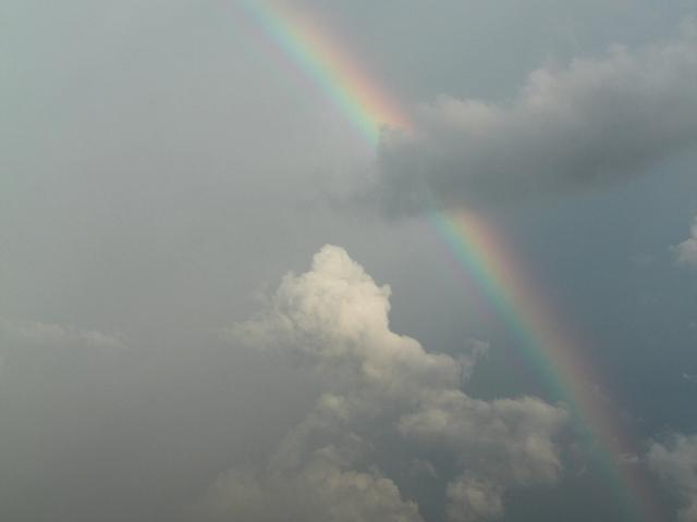 砺波平野 積乱雲の下に虹