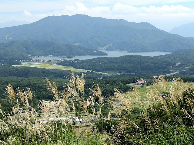黒姫高原からの眺望 斑尾山と野尻湖