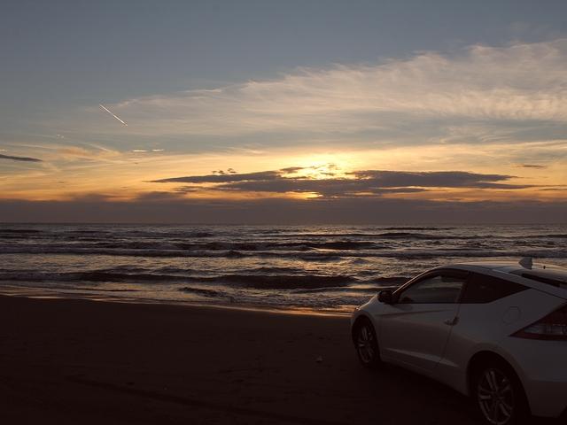 千里浜なぎさドライブウェイの夕景