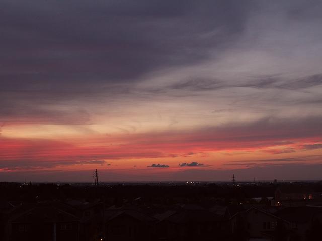 秋分の日の夕暮れ