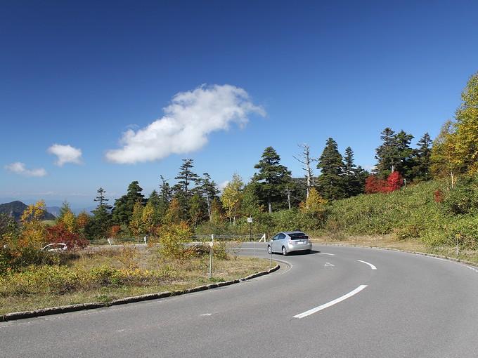 志賀高原横手山付近の国道292号