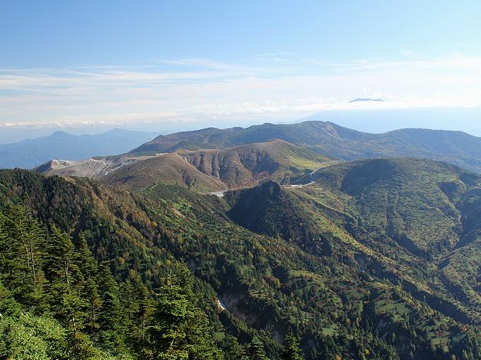 志賀高原 秋の横手山からの展望