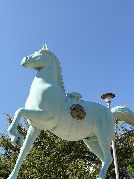 秋晴れの下 天高く馬肥ゆる・・・