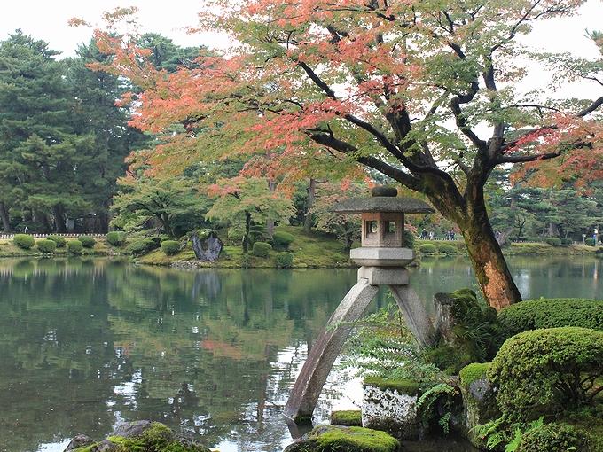 紅葉始まる兼六園 2012