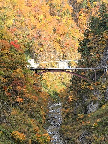 秋の白山スーパー林道 蛇谷大橋