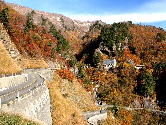 秋の白山スーパー林道 国見展望台