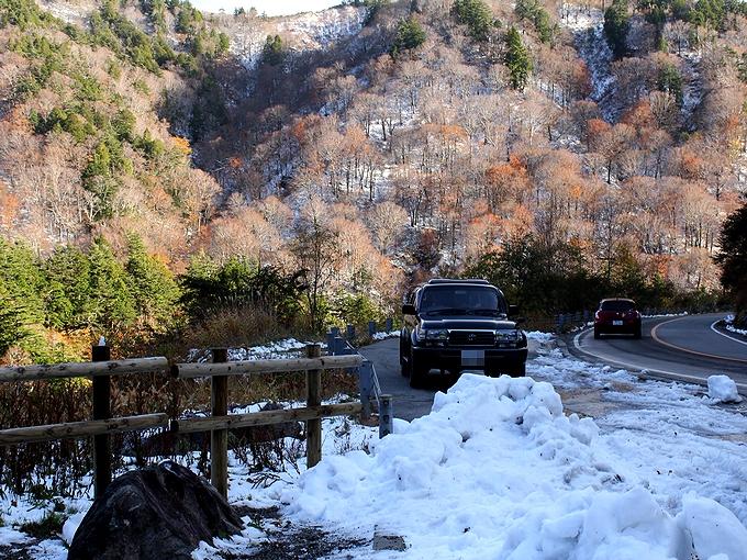 秋の白山スーパー林道 冬の景色