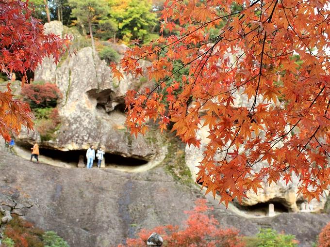 那谷寺の紅葉 奇岩遊仙境