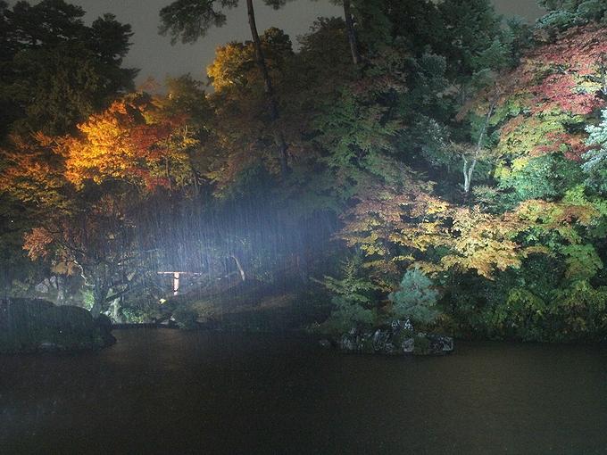 兼六園紅葉ライトアップ 瓢箪池