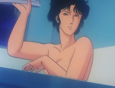 キャッツアイ39 来生瞳の胸裸入浴シーン乳首