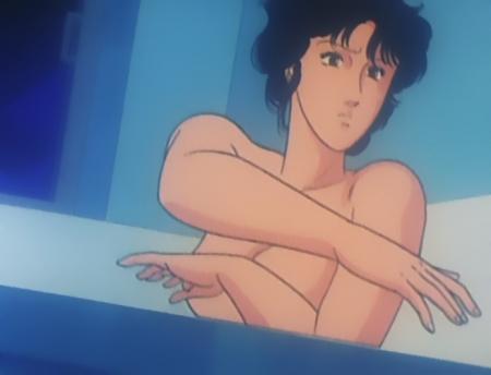 キャッツアイ41 来生瞳の胸裸入浴シーン