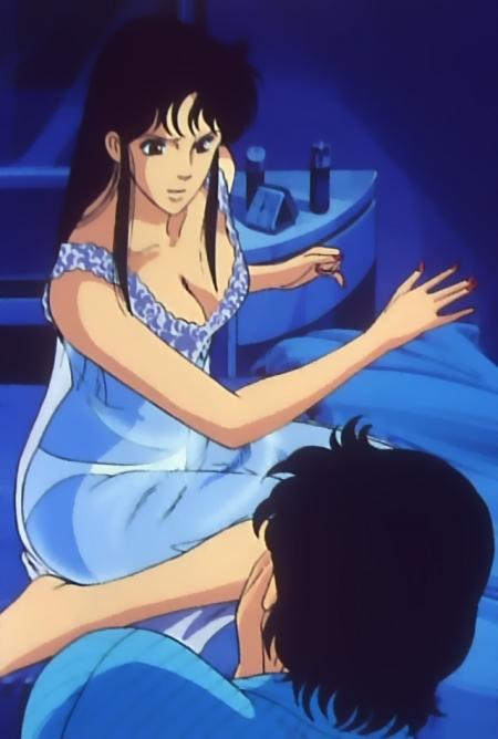 キャッツアイ51 来生瞳のネグリジェ姿胸裸パンツ