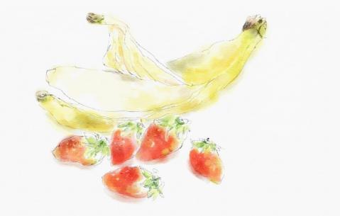 バナナと苺