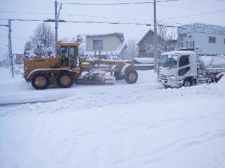 平成25年  初の除雪