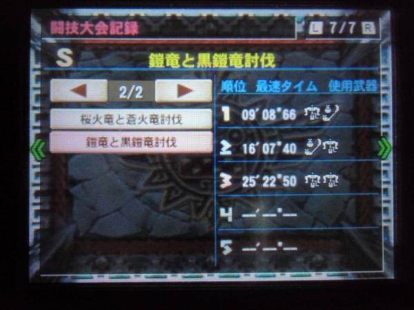 ギルドカード 7 闘技大会記録 鎧竜