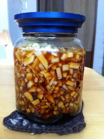 生姜の麺つゆ漬け