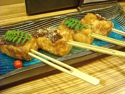 胡麻豆腐の鯛みそ田楽