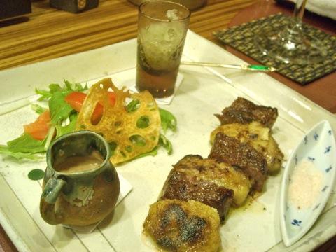 牛フィレとフォアグラ西京焼