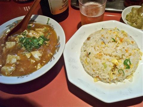 やきめしと麻婆豆腐