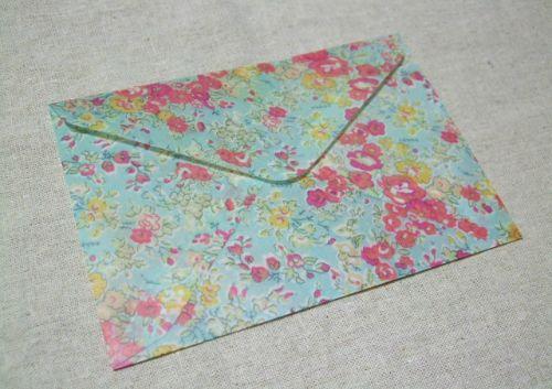 蠟引きで封筒作り