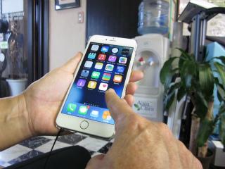 i Phone 6 plus は大きいので、このかたちになるのかもしれません。