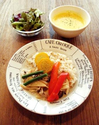 『カフェ・キャトル』のグリーンカレー