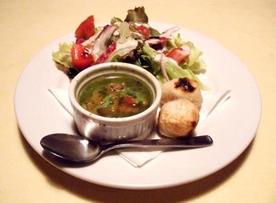 『石窯イタリアンgatto(ガット)』の夏野菜のペペロンチーノ