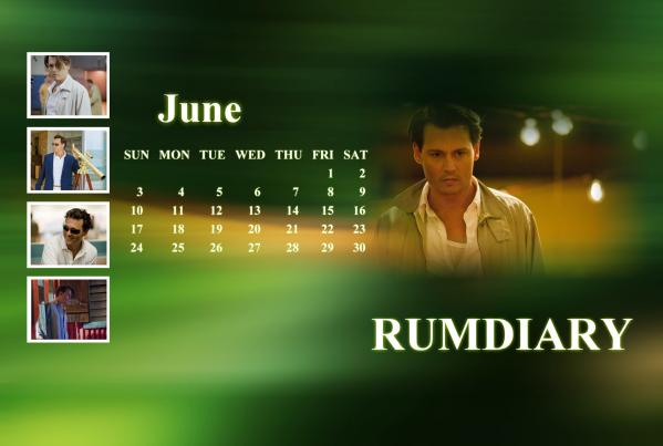 カレンダー2012年6月ジョニー