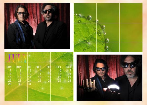 カレンダー2012年7月用