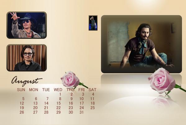 2012年8月ジョニーカレンダー