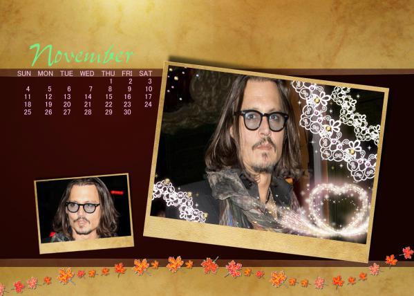 20121103 2012年11月用カレンダー