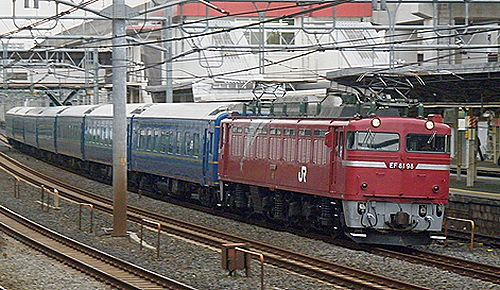 EF81 98+24系回送列車(2012年4月24日・東十条)