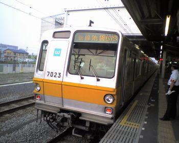 東京メトロ7000系ゴールド帯「Y」車(2008年6月11日・西武池袋線保谷駅)