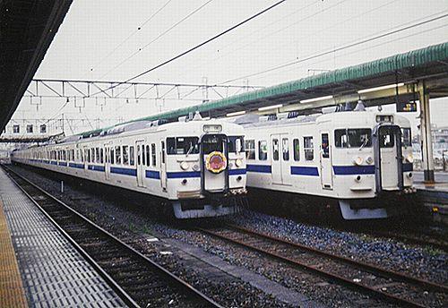 水戸線403系団臨「ひまわり号」(2005年? 小山駅)