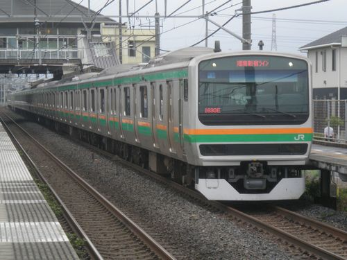 E231系湘南新宿ライン(2012年7月7日・新白岡)